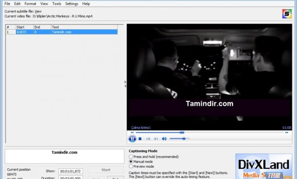DivXLand Media Subtitler Ekran Görüntüleri - 3