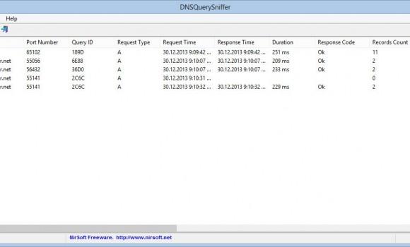 DNSQuerySniffer Ekran Görüntüleri - 1