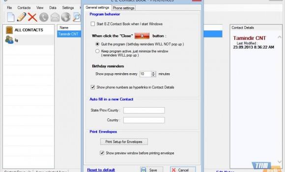 E-Z Contact Book Ekran Görüntüleri - 1