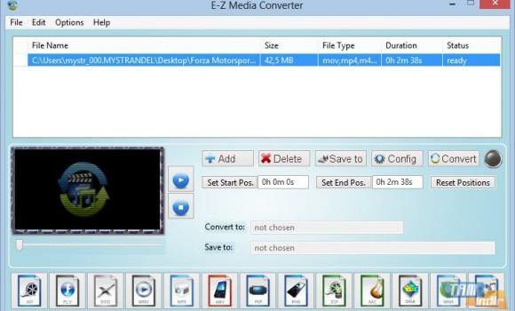 E-Z Media Converter Ekran Görüntüleri - 2