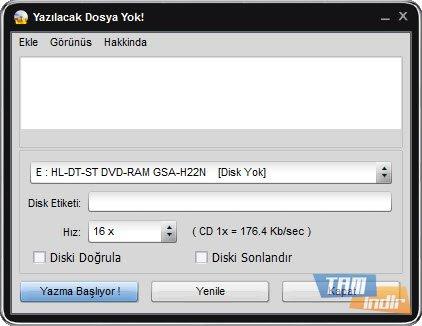 Easy Disc Burner Ekran Görüntüleri - 3