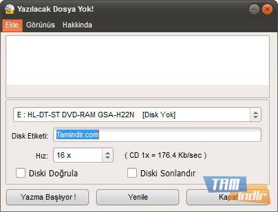 Easy Disc Burner Ekran Görüntüleri - 1