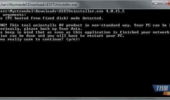 ESET Uninstaller Ekran Görüntüleri - 1