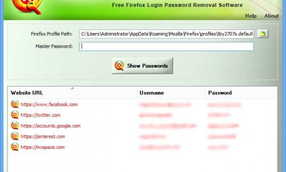 Firefox Password Remover Ekran Görüntüleri - 1