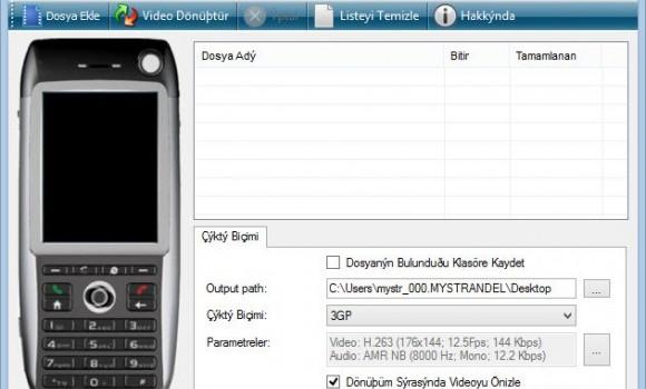 Free 3GP Converter Ekran Görüntüleri - 3