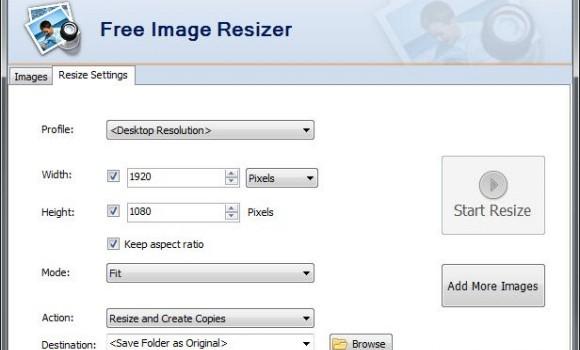 Free Image Resizer Ekran Görüntüleri - 1