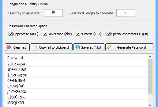 Free Password Generator Ekran Görüntüleri - 3