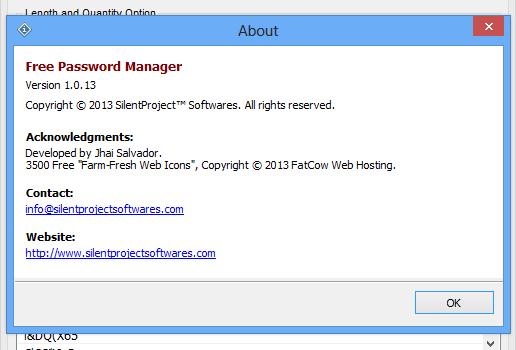 Free Password Generator Ekran Görüntüleri - 1