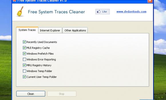 Free System Traces Cleaner Ekran Görüntüleri - 1
