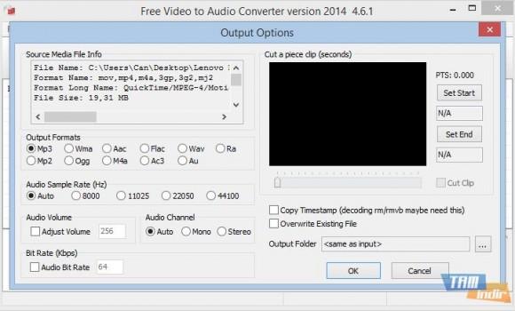 Free Video To Audio Converter Ekran Görüntüleri - 3