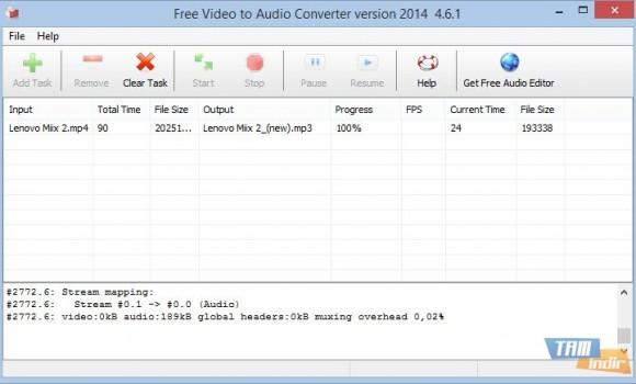 Free Video To Audio Converter Ekran Görüntüleri - 1