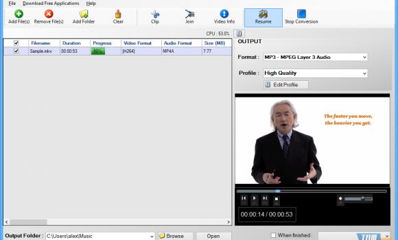 Free Video To MP3 Ekran Görüntüleri - 1