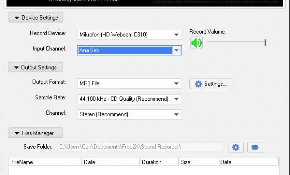 Free2X Sound Recorder Ekran Görüntüleri - 2