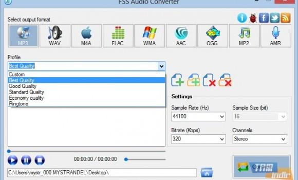 FSS Audio Converter Ekran Görüntüleri - 2