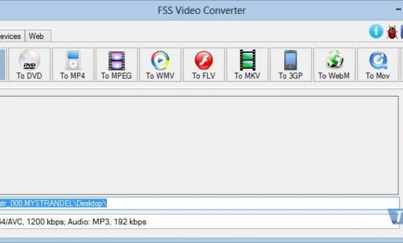 FSS Video Converter Ekran Görüntüleri - 1