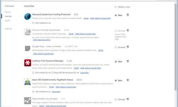 Google Chrome Ekran Görüntüleri - 1
