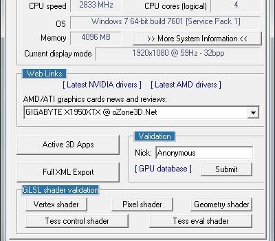 GPU Caps Viewer Ekran Görüntüleri - 3