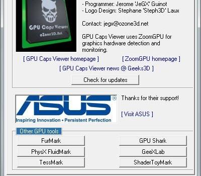 GPU Caps Viewer Ekran Görüntüleri - 1
