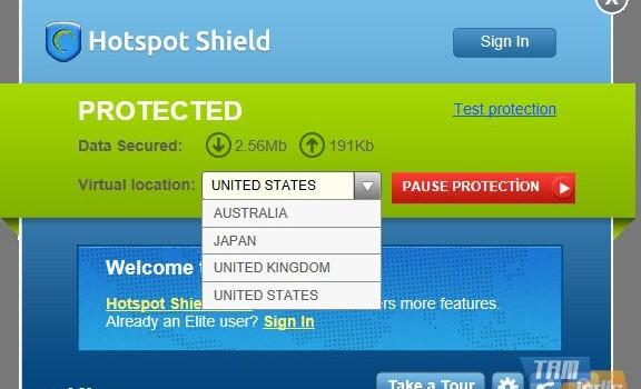 Hotspot Shield Ekran Görüntüleri - 1