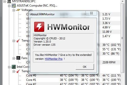 HWMonitor Ekran Görüntüleri - 1