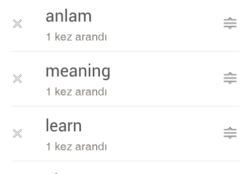 İngilizce Türkçe Sözlük Ekran Görüntüleri - 1