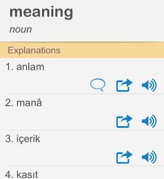 İngilizce Türkçe Sözlük Ekran Görüntüleri - 3