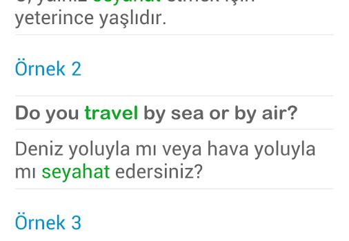 İngilizce Türkçe Sözlük Ekran Görüntüleri - 4