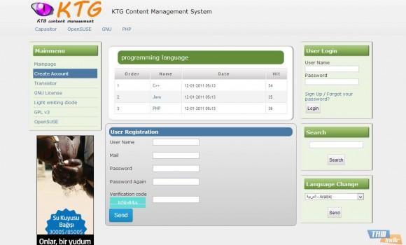 KTG İçerik Yönetim Sistemi Ekran Görüntüleri - 1