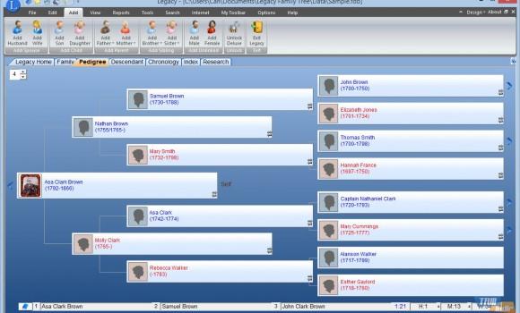 Legacy Family Tree Ekran Görüntüleri - 2