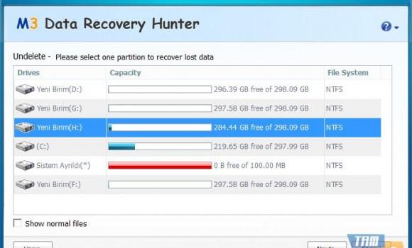 M3 Data Recovery Hunter Free Ekran Görüntüleri - 2