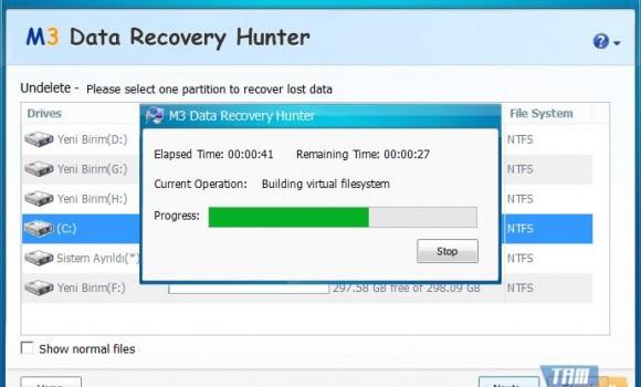 M3 Data Recovery Hunter Free Ekran Görüntüleri - 3