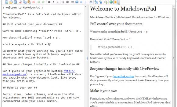 MarkdownPad Ekran Görüntüleri - 1