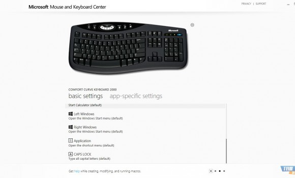 Microsoft Mouse and Keyboard Center Ekran Görüntüleri - 1