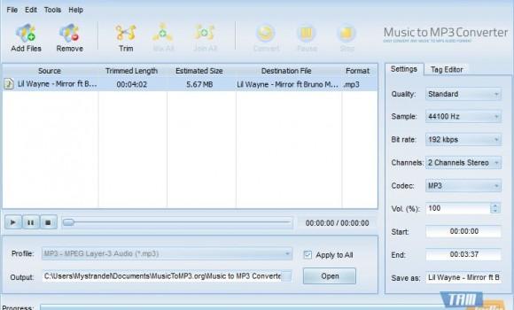 Music to MP3 Converter Ekran Görüntüleri - 1