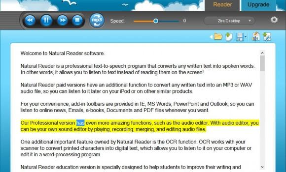 NaturalReader İndir - Metin Okuma Programı - Tamindir