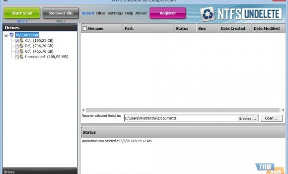 NTFSUndelete Ekran Görüntüleri - 5