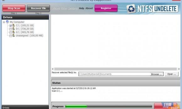 NTFSUndelete Ekran Görüntüleri - 2