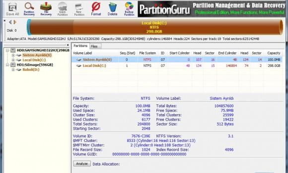 PartitionGuru Ekran Görüntüleri - 4
