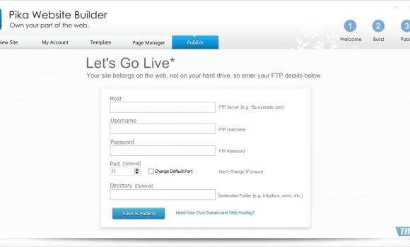 Pika Website Builder Ekran Görüntüleri - 1