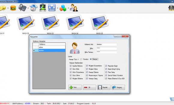 Diclesoft Premium Restoran Ekran Görüntüleri - 3