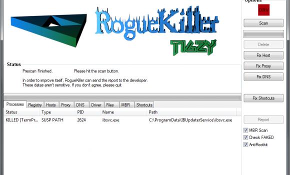 RogueKiller Ekran Görüntüleri - 2