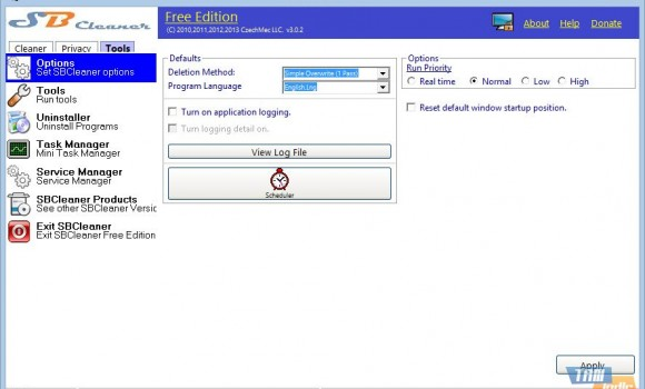 SB Cleaner Free Edition Ekran Görüntüleri - 1