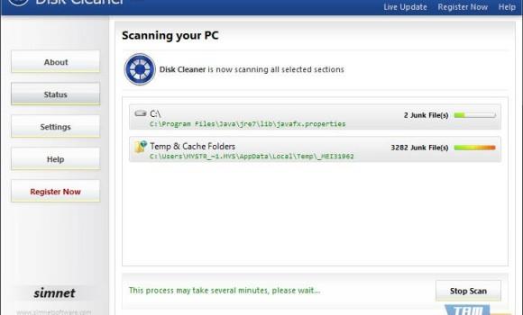 Simnet Disk Cleaner Ekran Görüntüleri - 2