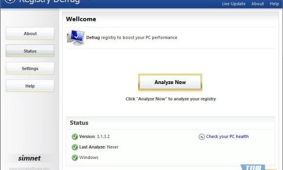 Simnet Registry Defrag Ekran Görüntüleri - 2