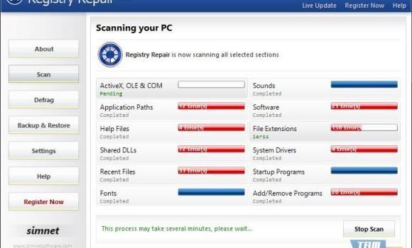 Simnet Registry Repair Ekran Görüntüleri - 4