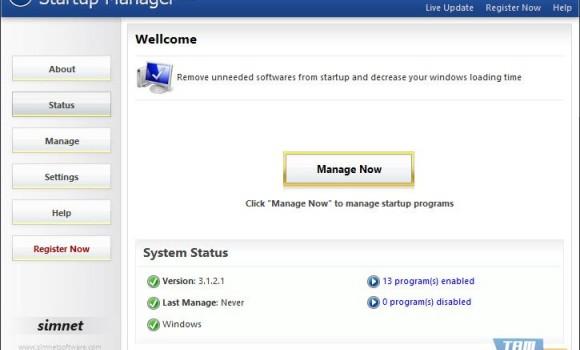 Simnet Startup Manager Ekran Görüntüleri - 2