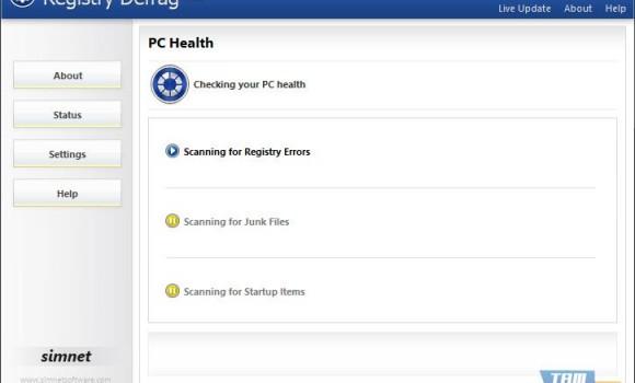 Simnet Registry Defrag Ekran Görüntüleri - 1