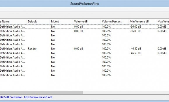 SoundVolumeView Ekran Görüntüleri - 1