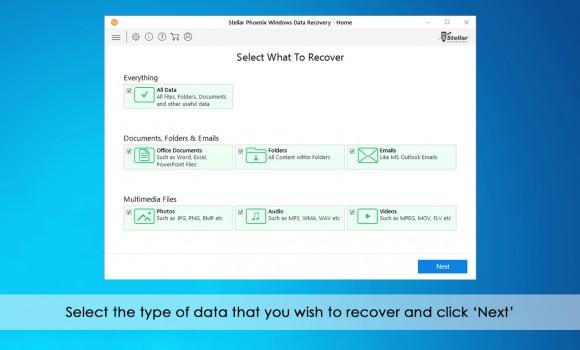 Stellar Phoenix Windows Data Recovery Home Ekran Görüntüleri - 4
