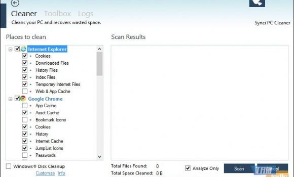 Synei PC Cleaner Ekran Görüntüleri - 3